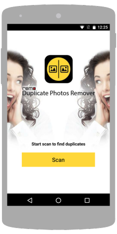 Launch Remo Duplicate Photos Finder app on your SmartPhone and click Scan