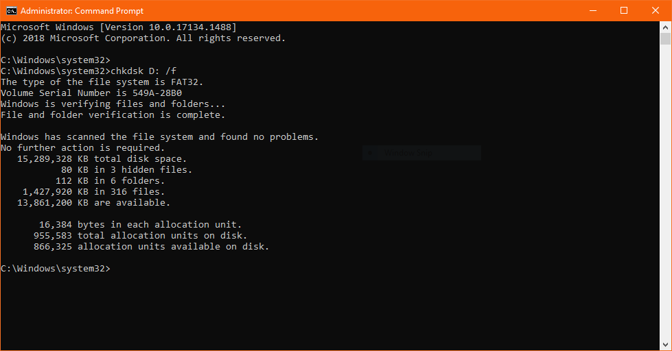 cmd and chkdsk to recover data from external hard drive