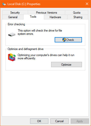 error checking tool to fix RAW SD card