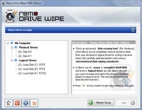 Free Drive Wipe Utility
