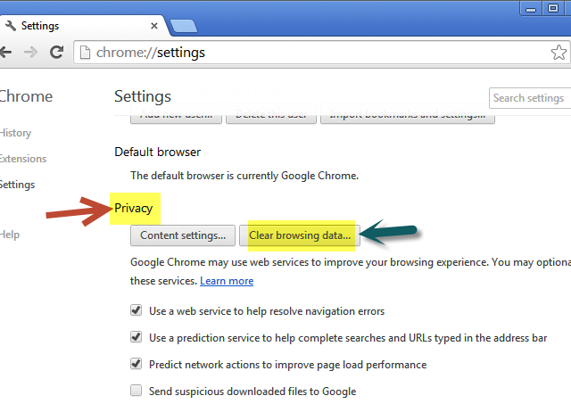 how to force clear cache in chrome