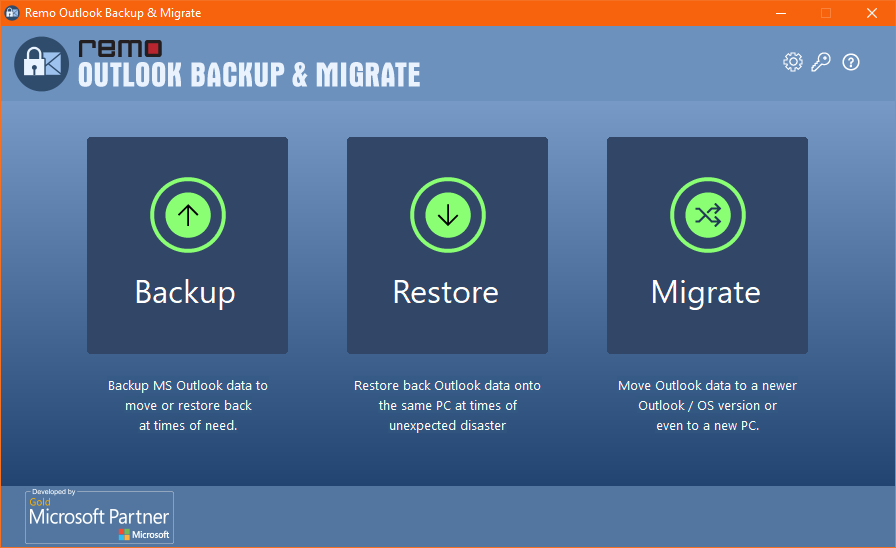 Home screen of Remo Backup and Migrate Tool