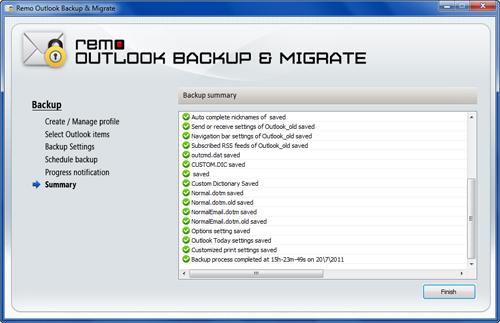 Backup Outlook Settings, Outlook Profile Items