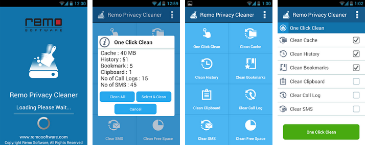 Remo Privacy Cleaner for Android - Permanently delete