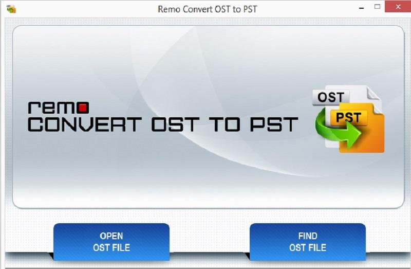 Remo Convert OST to PST Screen shot