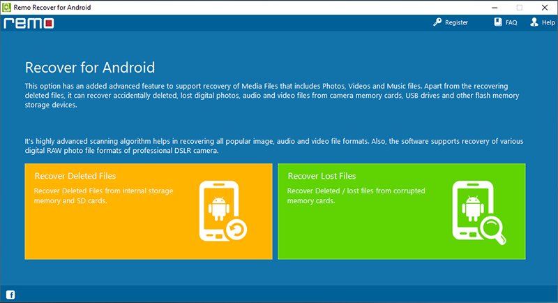 Remo Recover for Android full screenshot