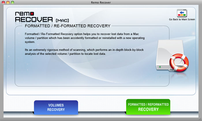 Remo Recover (Mac) Screenshot