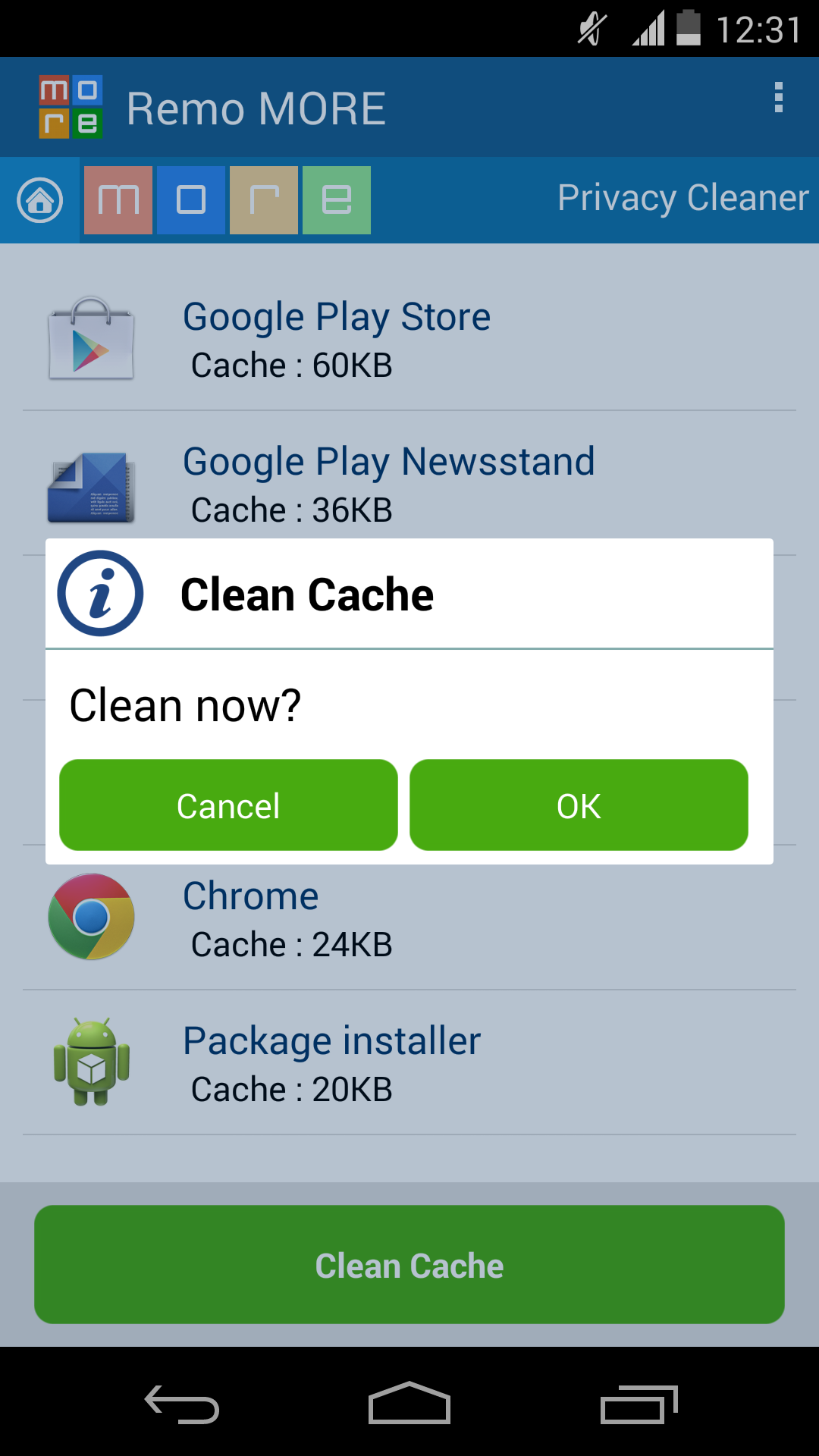Zip Software For Android Clean Cache Clean Now