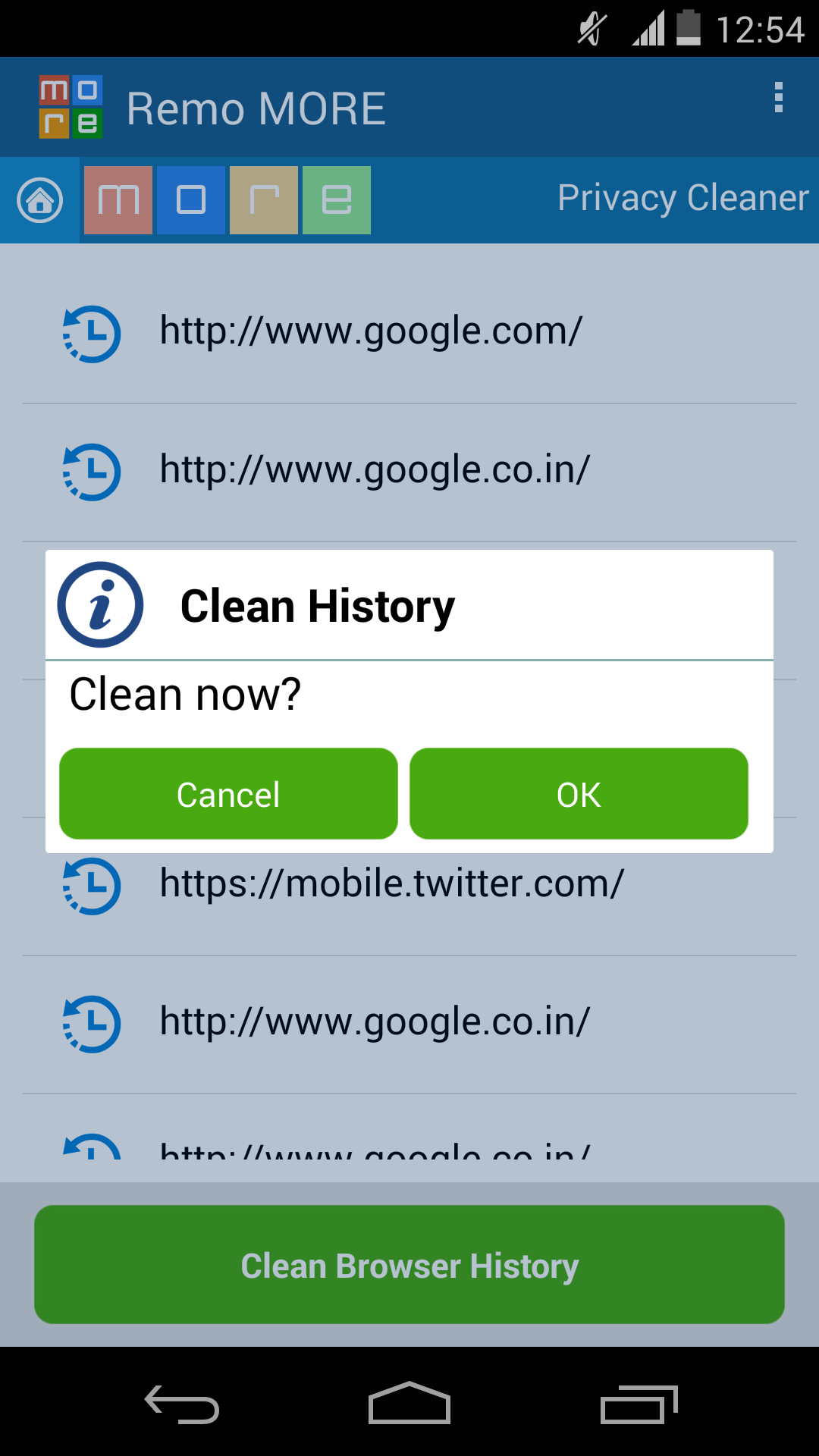 Step4: Finally, You Have An Option To Erase Allrmation Listed On  Xperia Phone Screen By Clicking On