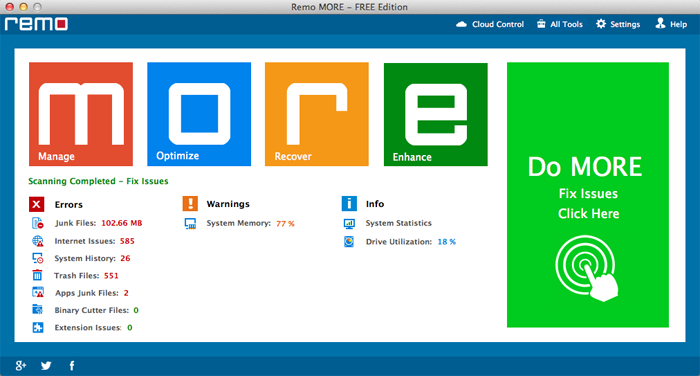 Remo MORE for Mac 1.0 full
