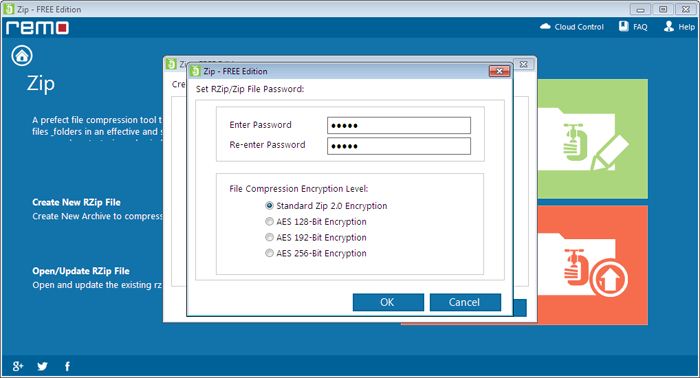 how to set a password for files in download file