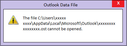 ost to pst cannot be opened error