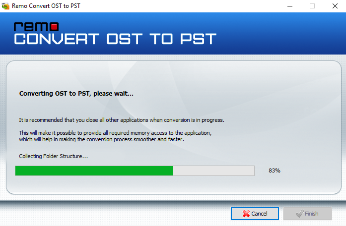 ost to pst conversion process