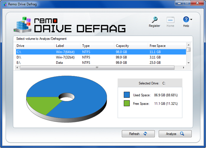 Remo Drive Defrag Software Defrag Hard Drives