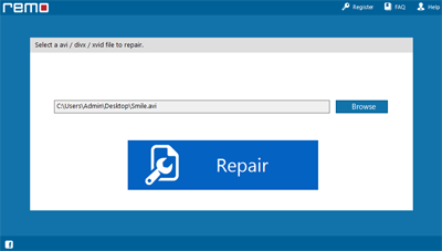 Click repair to fix AVI broken index