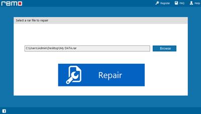 Select corrupt RAR files on Remo Repair RAR tool
