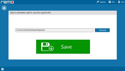 Save repaired RAR file using Remo RAR Repair software