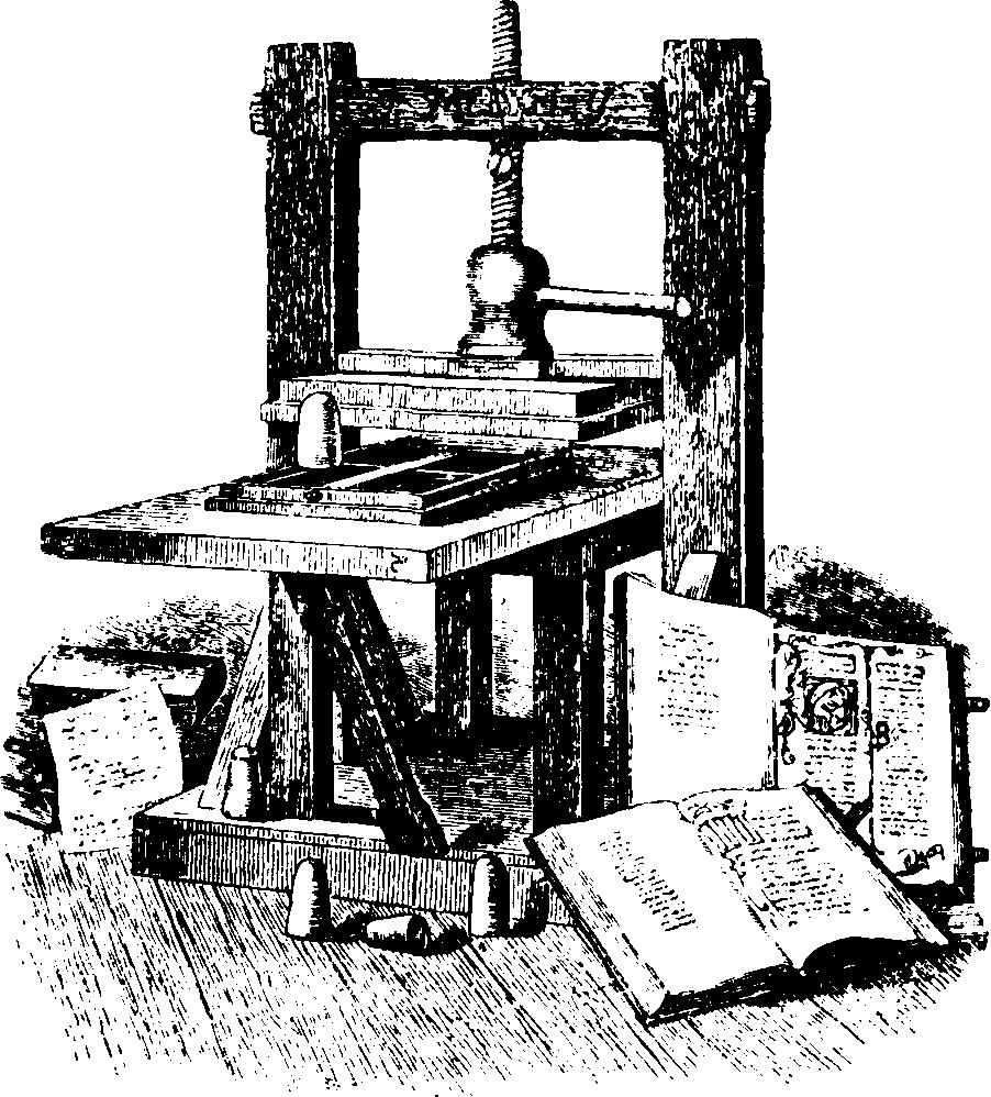 History of storage- printing machine