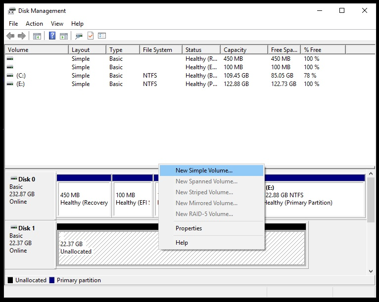 windows 10 disk management