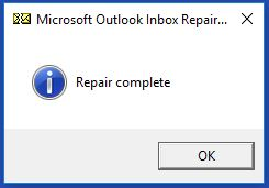 use inbox repair tool