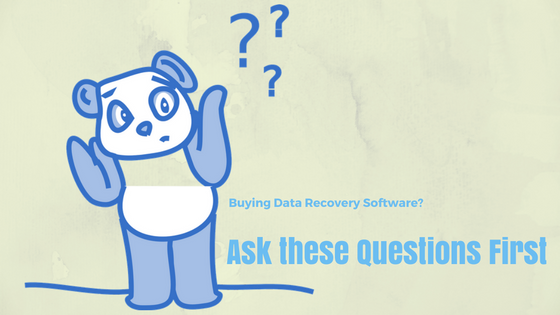 questions to ask before buying data recovery software