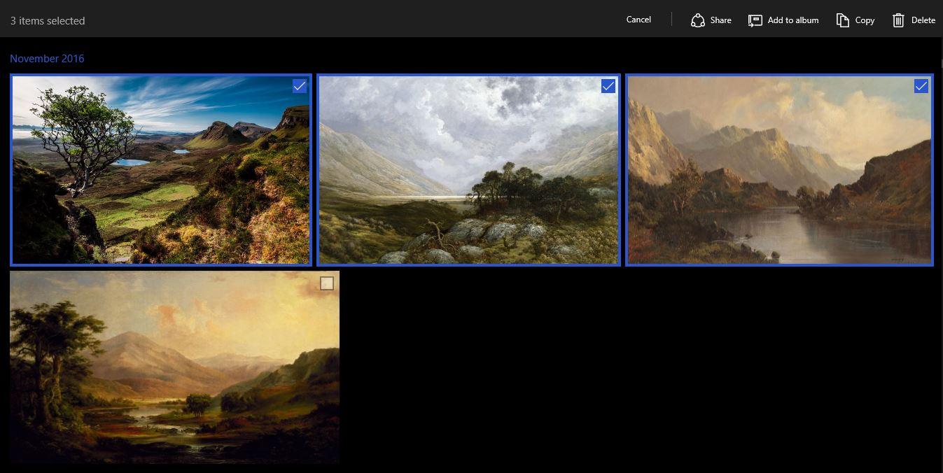 using windows 10 photos app