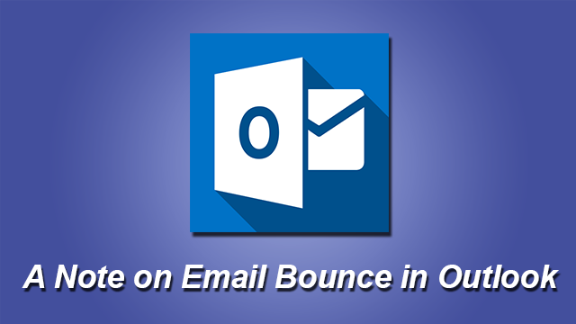 bounced emails in outlook