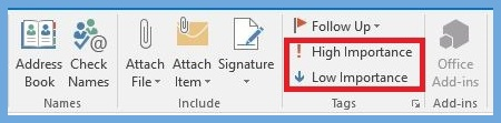 how to make email high priority in outlook