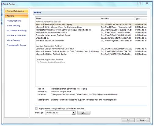 Cómo Desactivar Complementos de Outlook