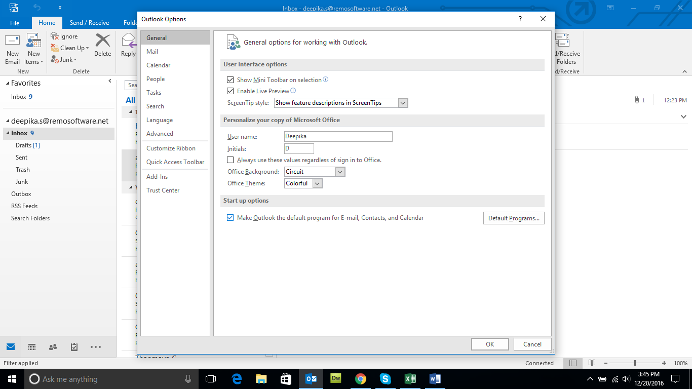 Know how to disable Outlook Add-Ins
