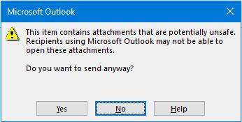 outlook security Ffeatures
