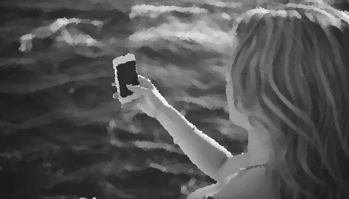 awesome selfie with smartphone