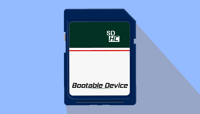 make bootable SD/SDHC card