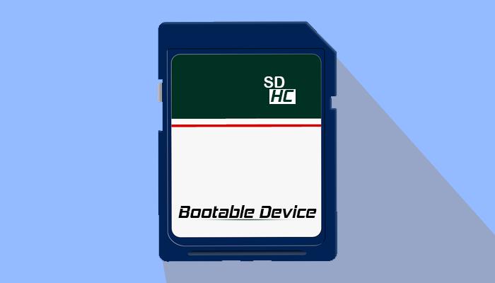make bootable SD/SDHC card