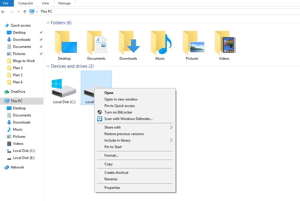 convert a hard drive or flash drive from FAT32 to NTFS