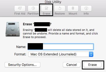 formatting corrupt external hard drive on Mac