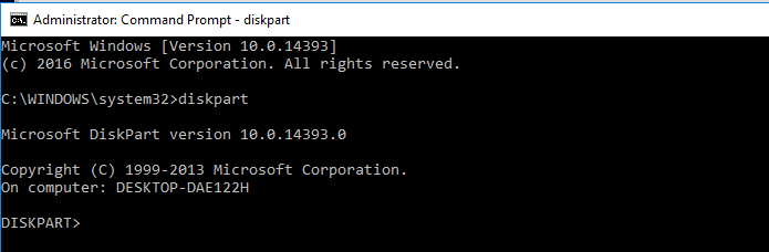 open the command prompt to clean the USB Drive