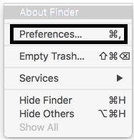 change preference settings