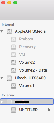 select corrupt external hard drive that needs to be formatted