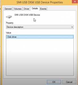 Go to details and copy the device instance path
