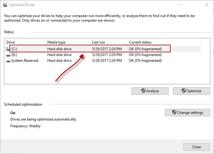 optimize ssds- optimize drives