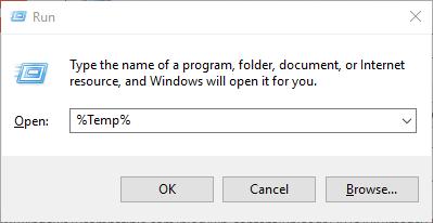 access temp file