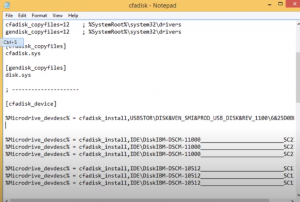 paste device instance path in notepad