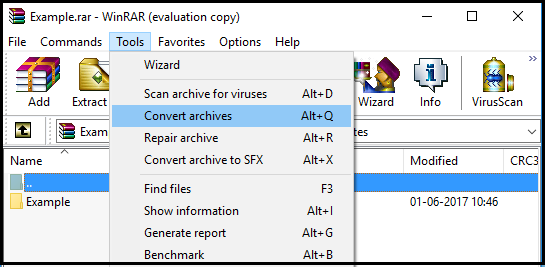 Convert RAR to ZIP Files Using WinRAR - Info | Remo Software