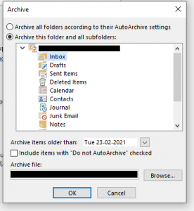 archive PST to Copy Outlook Folder Structure to New PST File