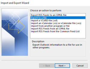 use import and export feature