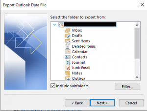 Copy Outlook Folder Structure to New PST File