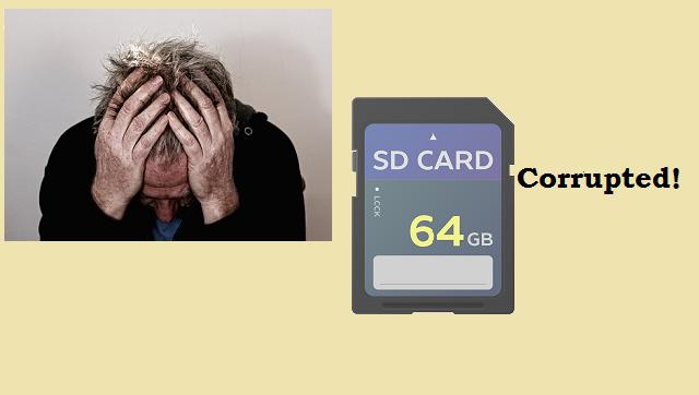 Repair corrupt SD card