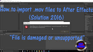Solved - After Effects Won't Import MP4 Files
