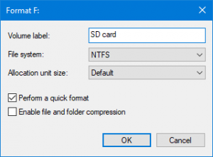 solved memory card not formatted